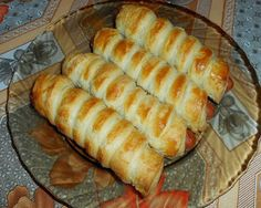 See related links to what you are looking for. Easy Sausage Roll Recipe, Sausage Rolls, Bread Dough Recipe, Frozen Puff Pastry, Salty Snacks, Hungarian Recipes, Food 52, Meat Recipes, Hot Dog Buns
