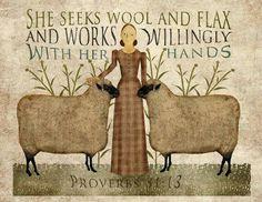She Seeks Wool & Flax