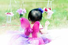 Baby fairy one year old photoshoot