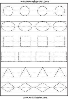 Tracing shapes.  This is not the right image.  The ones on the page were not pinnable.