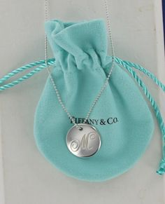 229d58466 Tiffany & Co. Large Notes Letter Initial Alphabet M Bead Chain Necklace  18