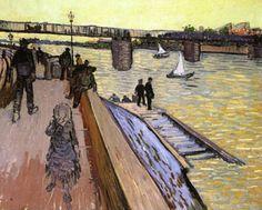 Vincent Van Gogh The Bridge at Trinquetaille, 1888 Oil on canvas