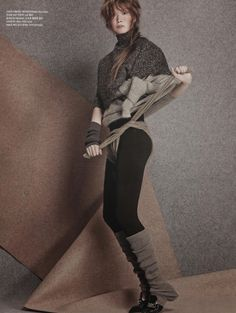 "Fashion on the Couch: Editorial Vogue korea January 2015 ""Knit Wit"" Feat. Kyung Ah Song By Jang Hyung Hong"