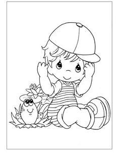 Precious Moments Kleurplaten voor kinderen. Kleurplaat en afdrukken tekenen nº 7
