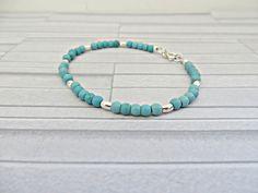 Turquoise bracelet Turquoise bead bracelet by AllthingsBAB on Etsy