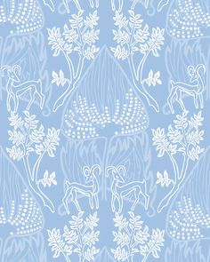 Arabian Nights - Chaouen – Relativity Textiles Wallpaper Samples, Print Wallpaper, Luxury Wallpaper, Designer Wallpaper, Prepasted Wallpaper, Navy Blue Background, Tree Patterns, Arabian Nights, Floral Bouquets