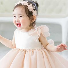 Pink Fluffy Flower Girl Dress/Cute & fluffy pink flower girl dress. Available from 3 month until 12 years old. Color: Pale Pink. Material: Satin, soft polyester fiber, purified cotton lining, tulle mesh. Free shipping.