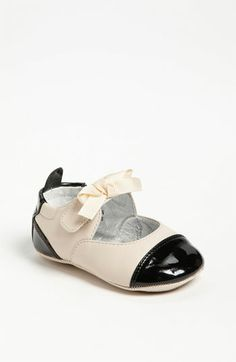 For Baby M!! I think I might get these. Cole Haan 'Mini Cap Toe' Leather Crib Shoe (Baby) available at #Nordstrom