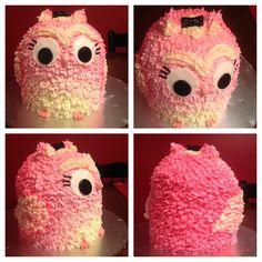 Pink owl birthday cake!