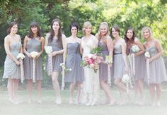 style the aisle | bridesmaids edition No 3  Grey dresses