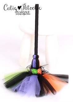 READY TO SHIP:  Twinkling Trickster Bitty Broomstick - Halloween Witch Costume Accessory - Infant to Toddler Size by Cutiepatootiedesignz on Etsy