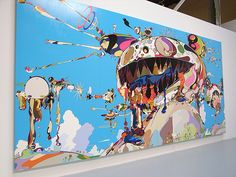 Takashi Murakami, schilderij in Super Flat Style Superflat, Takashi Murakami Art, Graffiti, Street Art, Graphic Design Illustration, Japanese Art, Asian Art, All Art, Contemporary Art