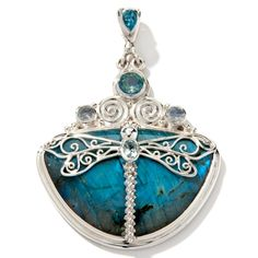 "Sajen Silver by Marianna and Richard Jacobs Labradorite ""Dragonfly"" Pendant at HSN.com"