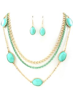 Billie Necklace in Turquoise Mint
