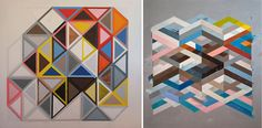 Layering and pairing colors to trick the eye; his work inspires a modern twist on Bauhaus artist Josef Albers.
