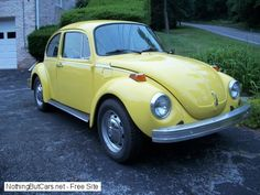 My first car!  1974 VW Super Beetle.  Her name was Ruby Sue.