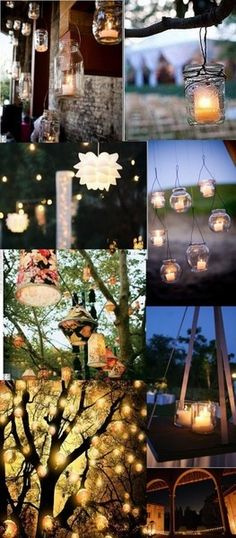 Wedding lanterns, alternative, IKEA lamps, tree, candles