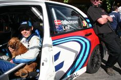 2009 Classic Adelaide - Allan won the event outright despite having little rally experience - sitting quietly, with Rusty Sausage, waiting for the media call.