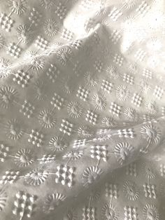 Hakoba Cotton Embroidered White Fabric -*Sold by the Yard* Embroidery On Clothes, Embroidery Fabric, White Embroidery, Embroidery Patterns, Embroidery Suits Design, Free Machine Embroidery Designs, Suit Fabric, Lace Fabric, Cotton Curtains