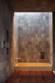 Natural stone zen bathroom
