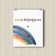Arrow Yoga Poster. Yoga art print. Yoga gifts. Yoga studio decor. Yoga print…