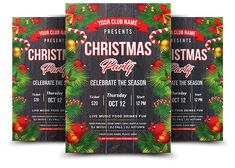 Christmas Party Flyer by AfzaalGraphics on @creativemarket