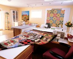 I want a design wall like this in my next house! Martingale - Creating Your Perfect Quilting Space