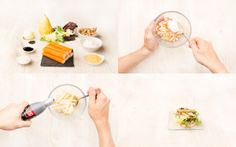 Ensalada verde con surimi, pera y vinagreta de mostaza | Demos la vuelta al día
