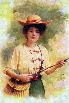 Women Fishing Michigan Vintage Artwork - Donald (Don) Harrison, via Flickr