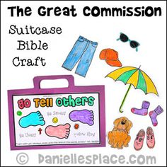 Go Tell Others Great Commission Bible Craft for Sunday School from www.daniellesplace.com