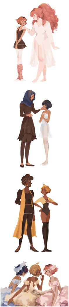 Pearl, Rose, Blue Diamond, and Yellow Diamond - ballet