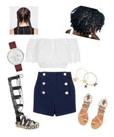 """""""Boardwalk✨"""" by angeliqueamor on Polyvore featuring Miguelina, Loeffler Randall, Miss Selfridge, Alex and Ani and Skagen"""