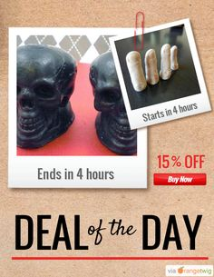 Today Only! 15% OFF this item. Follow us on Pinterest to be the first to see our exciting Daily Deals. Today's Product: Black Magic Skull Soap Buy now: https://orangetwig.com/shops/AAADFc8/campaigns/AABcT8q?cb=2015010&sn=MollycoddleSoap&ch=pin&crid=AABcT8R&exid=57856219