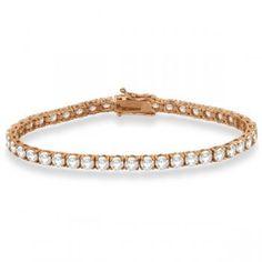 Eternity Diamond Tennis Bracelet 14k Rose Gold (10.01ct)-Allurez.com