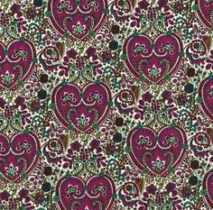 A lovely, detailed, paisley print from Liberty of London, Kitty Grace, here in a purple and green colourway.100% cotton Tana LawnFat Quarter: £5, Half Metre: £11, Per Metre: £22/m