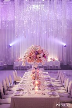 lilac A Dreamy Lilac and Silver Wedding - WedLuxe Magazine Is Your Air Conditioning Filter Important Sweet 16 Decorations, Quince Decorations, Quinceanera Decorations, Quinceanera Party, Lilac Wedding Themes, Purple And Silver Wedding, Wedding Colors, Silver Weddings, Wedding Flowers