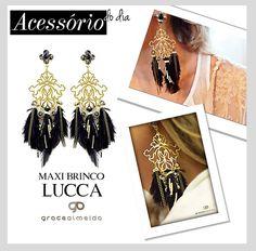 Inspiração com MAXI BRINCO LUCCA, para dar vida nova aos looks sem graça!! NA LOJA VIRTUAL: www.lojagracealmeida.com.br NO BLOG: www.gracealmeida.com.br/blog