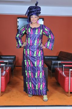 A magnificent African ethnic maxi dress with different colored embroidery. Gives a slimming effect. Suitable for weddings, church, black history month etc. Made with authentic cotton brocade. Please DO NOT bleach, dry clean and press with warm iro African Fashion Designers, African Inspired Fashion, African Men Fashion, Africa Fashion, African Dresses For Women, African Attire, African Wear, African Women, African Style