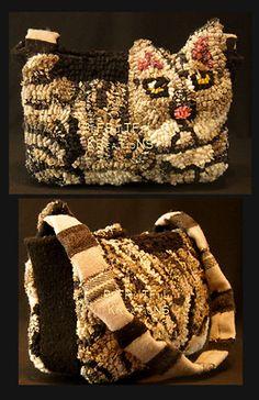 Hooked Cat PursePattern on eBay, so cute