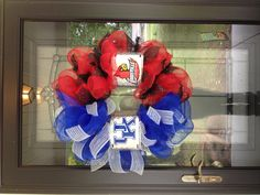 My House Divided wreath will say ND and OSU
