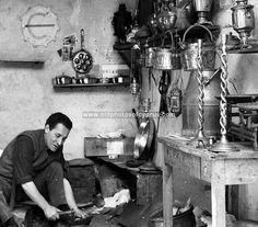 Traditional craftsman, Nicosia, 1971.  Copyright vshelley.