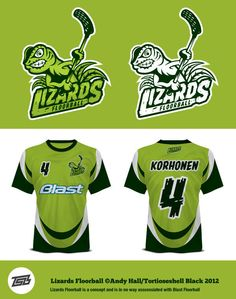 Lizards Floorball by Andy Hall, via Behance Hockey Logos, Sports Team Logos, Football Mexicano, Sports Uniforms, Sports Graphics, American Sports, Logo Concept, Sport Outfits, Lizards