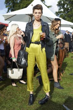 Vibrant all-in-one #streetstyle at 50th Festival