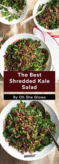 4. The Best Shredded Kale Salad #vegan #bowl #recipes http://greatist.com/eat/vegan-bowl-recipes-we-cant-get-enough-of