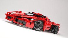 """Przejrzyj mój projekt w @Behance: """"Lego Technics Ferrari C4D"""" https://www.behance.net/gallery/25201303/Lego-Technics-Ferrari-C4D"""