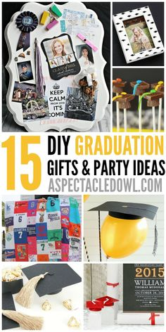 15 DIY Graduation Gift‭ & ‬Party Ideas – A Spectacled Owl - Metarnews Sites Diy Party, Party Gifts, Diy Gifts, Party Ideas, Gift Ideas, Event Ideas, Theme Ideas, Fun Ideas, Unique Gifts