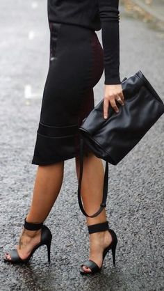 Tommy's weakness - Pencil skirt & Those Shoes!!!