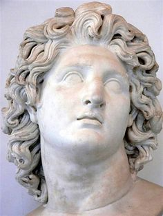 Alexander the Great. marble.    Roman copy.