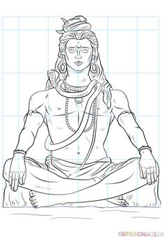 How to draw Lord Shiva | Step by step Drawing tutorials