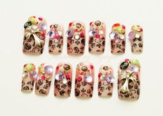 3D nail art wicked witch eyeballs fingers made to order by Aya1gou, $20.80